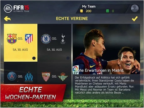 FIFA 15 Ansicht