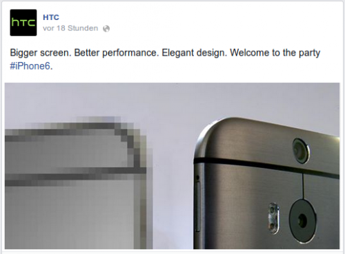 HTC iPhone 6 Reaktion