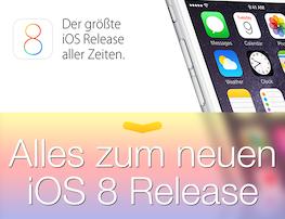 Alle News rund um iOS 8