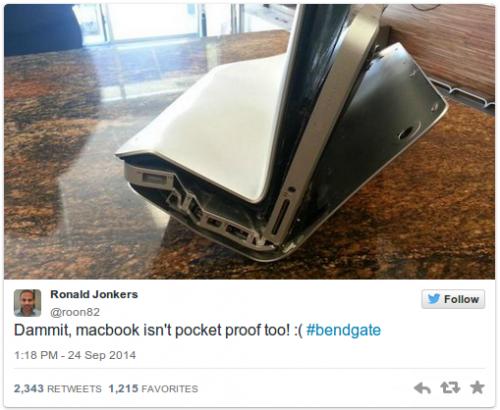 MacBook bend