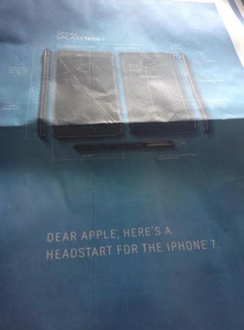 Samsung iPhone 7 Werbung
