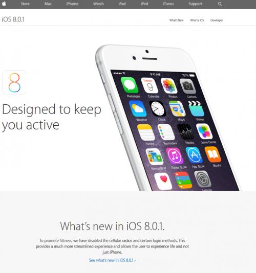 Scherz Bild iOS 8.0.1