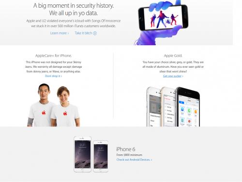 Scherz Bild iPhone 6