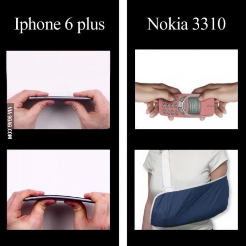 Scherz Bild iPhone Nokia Biegung