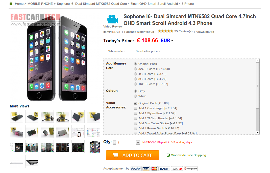 Iphone 6 Sd Karte.Iphone 6 Klon Fur Gerade Mal 109 Euro Im Video Itopnews
