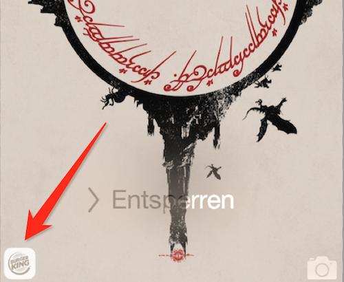 Sperrbildschirm App Zugriff iOS 8
