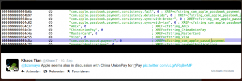 Twitter Apple Pay China