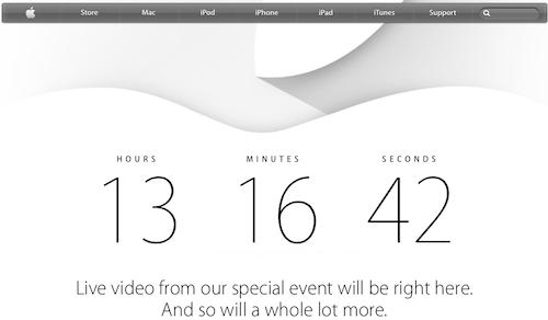 apple.com Event Countdown