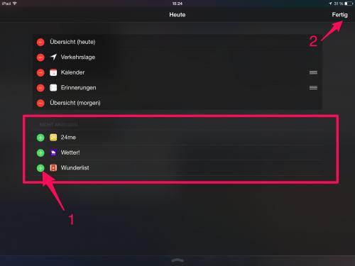 iOS 8 Widgets i mal 1 3