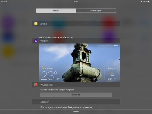 iOS 8 Widgets i mal 1 4