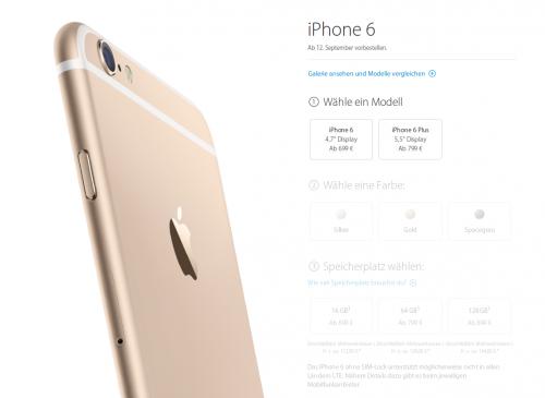 iPhone 6 Apple Store Seite