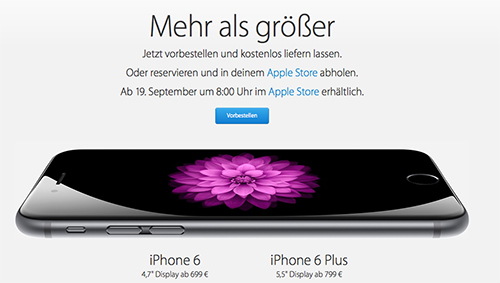 Bestellung iPhone 6
