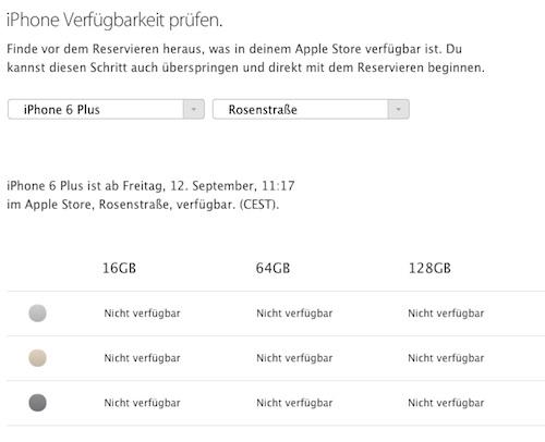 Lieferzeiten iPhone 6