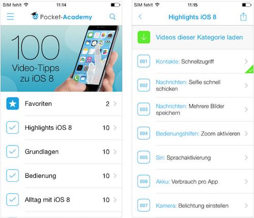 100 Video Tipps zu iOS 8