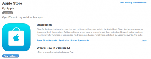 Apple Store Apple Pay Update