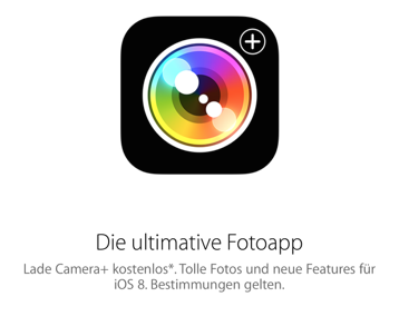 Camera plus Aktion Apple