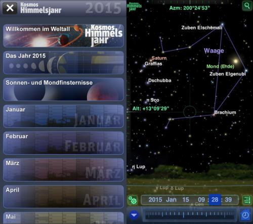 Kosmos Himmelsjahr 2015 Screen1