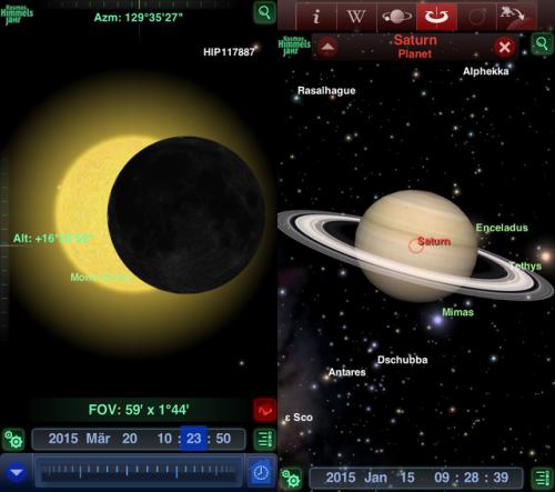 Kosmos Himmelsjahr 2015 Screen2