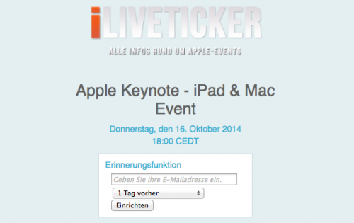Liveticker iPad Mac Event