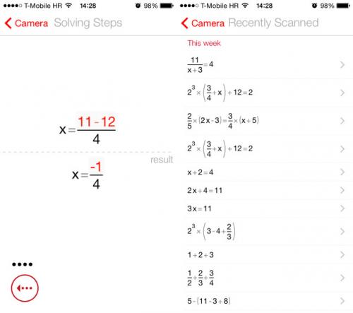 PhotoMath Screen2