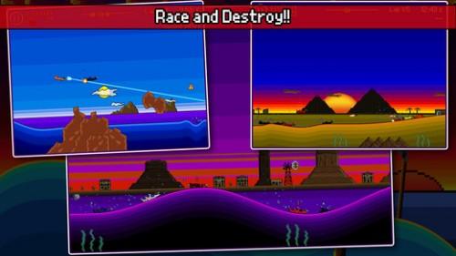 Pixel Boat Rush Screen1
