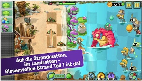 Plants vs Zombies 2 Riesenwellen