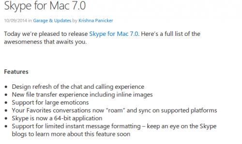 Skype Mac 7