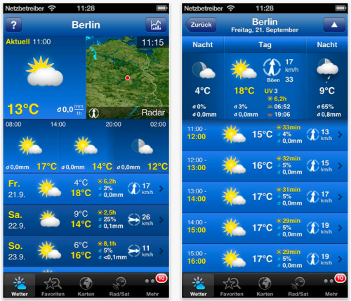 die sieben besten wetter apps mit widgets liste itopnews. Black Bedroom Furniture Sets. Home Design Ideas