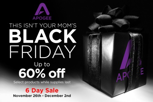 Apogee Black Friday 2014
