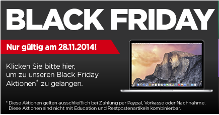 Black Friday MacTrade Info