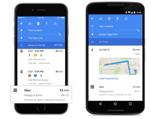 Google Maps 2 Uber Einbindung
