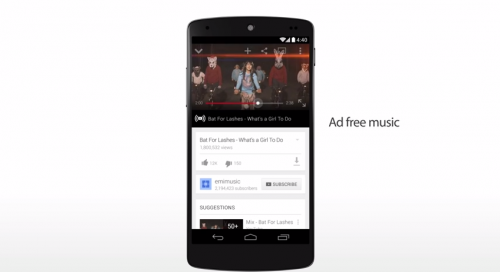 Google YouTube Musik Streaming
