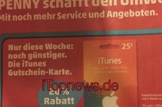 iTunes-Karten günstiger bei Hit, Penny, Lidl, Post ...