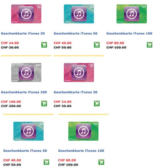 Postshop iTunes Karten bis 30 11 2014
