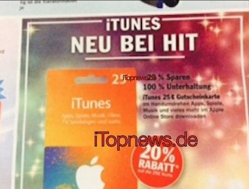 iTunes Karten Hit