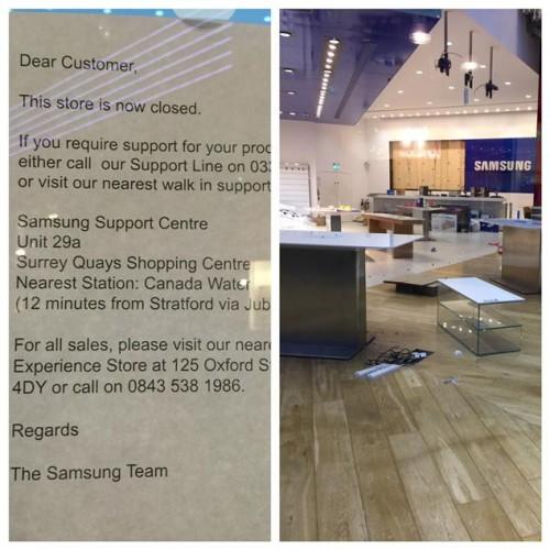 Samsung Store Schliesst
