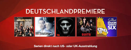 Serien Highlights iTunes