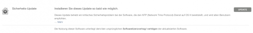 Sicherheits Update 22 12 OS X