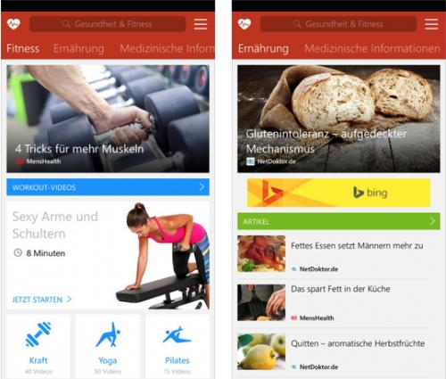 msn Gesundheit App