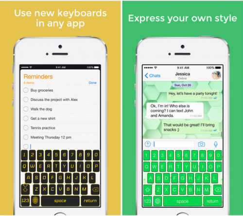 Custom Keyboard for iOS 8 Screen2