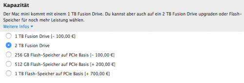 Mac mini 2 TB Fusion Drive
