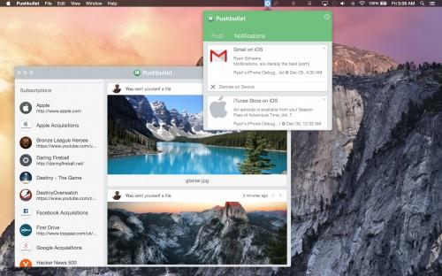 Pushbullet OS X Bild