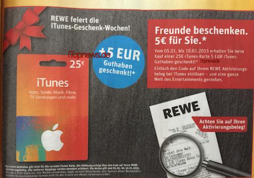 Rewe iTunes Karten 05 01 2015 Tobias