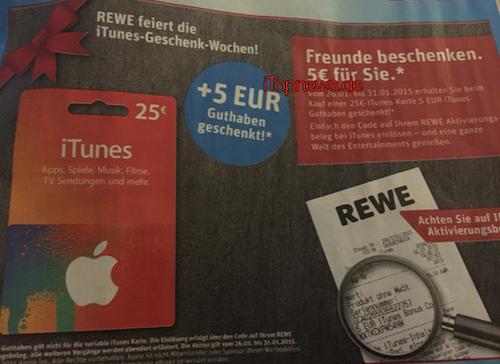 Rewe iTunes Karten ab 26.1.2015
