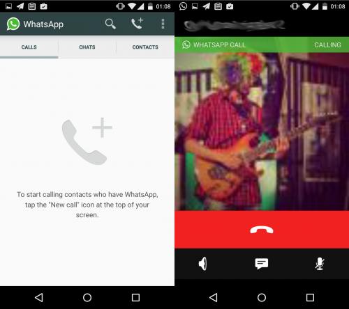 WhatsApp Telefonie Android
