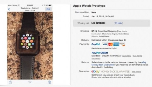 Fake Apple Watch bei Ebay
