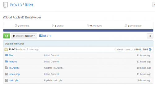 iDict Pr0x13 iCloud Hack Tool
