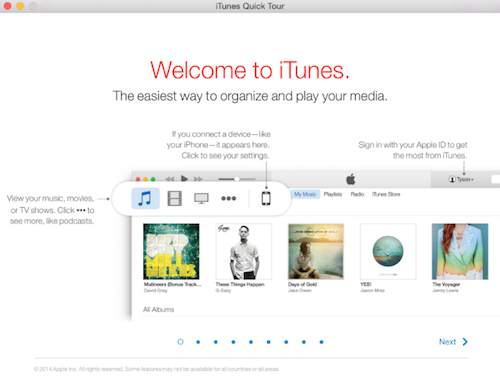 iTunes 12.1 Quick Tour