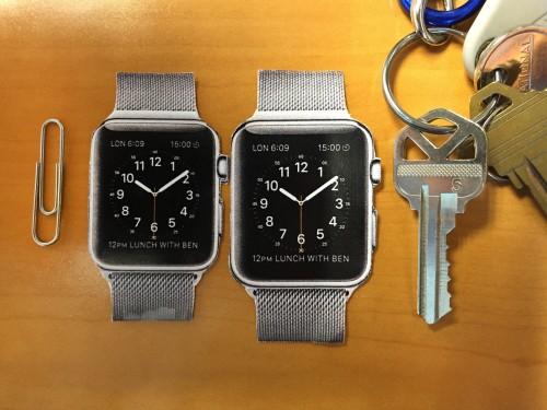 Apple Watch Pre Groessenvergleich