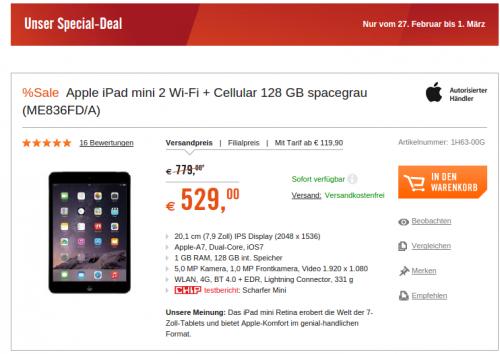 Cyberport iPad mini 2 Feb15